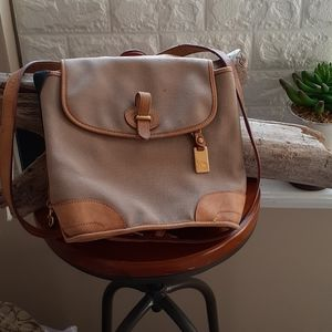 Dooney & Bourke Leather and Canvas Backpack